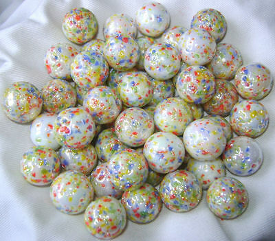 NEW 50 METEOR 16mm GLASS MARBLES TRADITIONAL GAME or COLLECTORS ITEMS HOM
