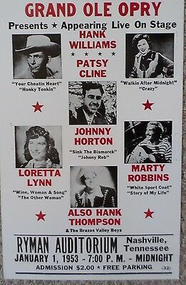 Grand Ol Opry featuring Patsy Cline and more Poster Print