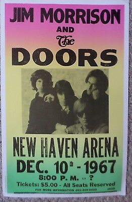 Jim Morrison and The Doors at The New Haven Arena Poster Print