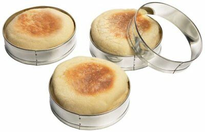 Fox Run English Muffin Rings 4pc Set - Egg Pancake Biscuit Crumpet Cutter