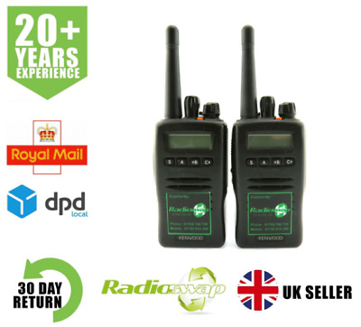 KENWOOD TK3140 UHF 4 WATT WALKIE-TALKIE TWO WAY RADIOS x 2