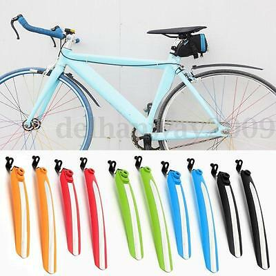 5 Colors Cycling Bicycle Bike Rear Front Mud Guards Mudguard Fenders Set NEW