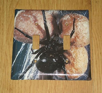 AWESOME BLACK WIDOW SPIDER on EGGS 2 HOLE Light Switch Cover Plate