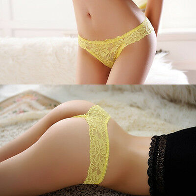 Cute Women Sexy Lace V-string Briefs Panties Thongs G-string Lingerie Underwear