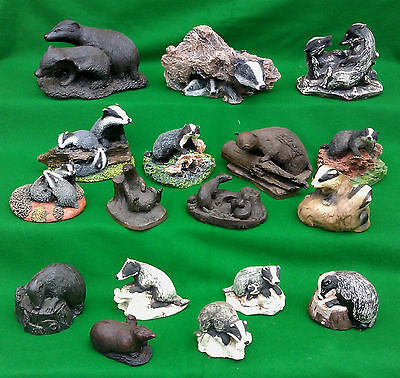 Large Selection Of Assorted Badger Figurines