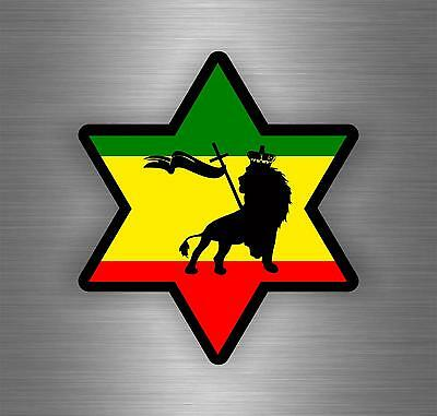 Sticker car decal rasta reggae jah macbook lion of judah one love rastafarai r10