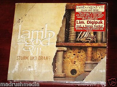 Lamb Of God VII Sturm Und Drang Limited Edition CD 2015 Bonus Tracks Digipak NEW