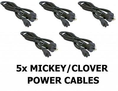 5 x Clover Leaf 1.5m IEC-C5 AC Power Cord/Cable/Lead 3 PIN Connector Plug Prong