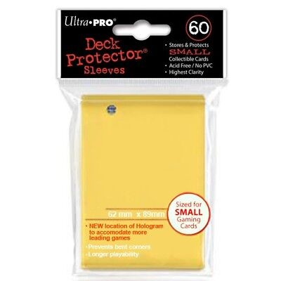 Ultra Pro 60 Small Size Yellow Deck Protector Sleeves Fit Yugioh 82970