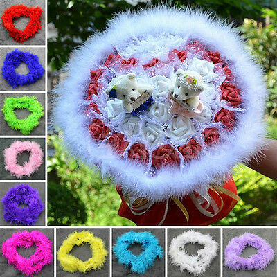 Colorful 2M Marabou Feather Boa For Burlesque Fancy Dress Party Boas Gift Decor