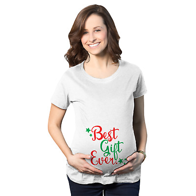 Maternity Best Gift Ever T Shirt Funny Christmas Bump Pregnancy Tee for Women