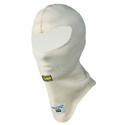 OMP First Double Layer Nomex Racing/Rally/Race FIA Balaclava- White - Medium