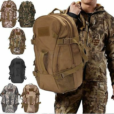 40L Military Tactical Army Outdoor Backpack Rucksack Camping Hiking Trekking Bag