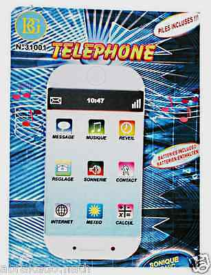 Telephone Smartphone Sonore Lumineux Tactile Jouet