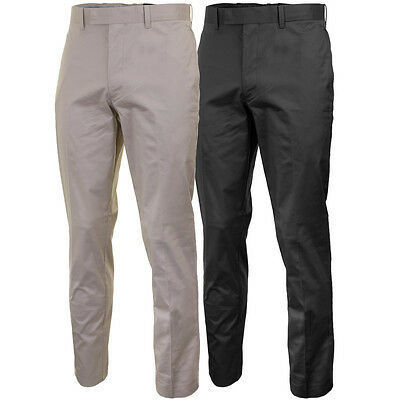 Callaway Golf Mens Cotton Chev Trousers Classic Flat Front Stretch Pant