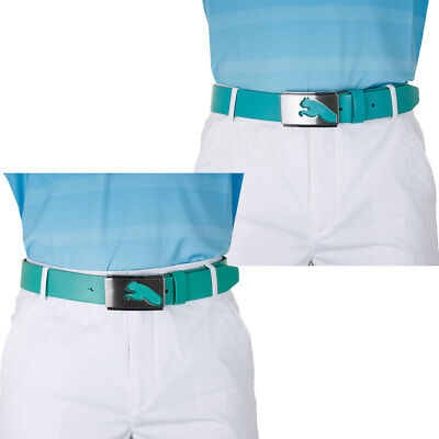 Puma Golf Mens Highlight Fitted Golf Belt 908172 Leather Strap Metal Buckle