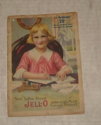 Vintage Advertising 1918 Jell-O Digest Recipe Illustrated Booklet * Nice Cover