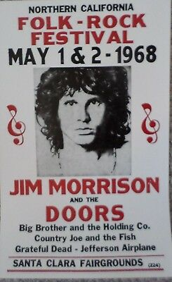 Jim Morrison and The Doors  at The Folk Rock Festival Poster Print