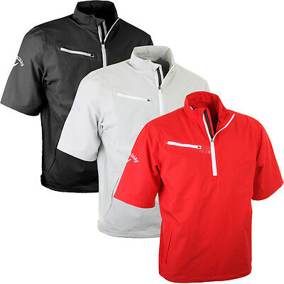 Callaway Golf Mens 1/4 Zip Gust 2.0 Short Sleeve Windshirt SS Wind Pullover