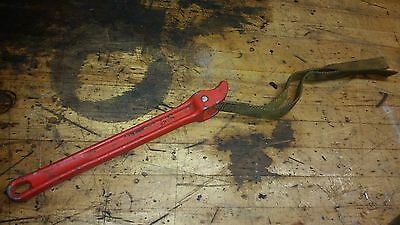 "RIDGID No. 2  Aluminum Strap Wrench USA 12"" Handle, 14"" Strap"