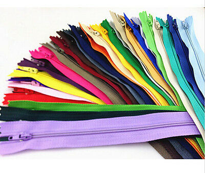 10/30/150/300PCS 9 Inch Coil Closed Clothes Tailor Sewing Craft Nylon Zippers