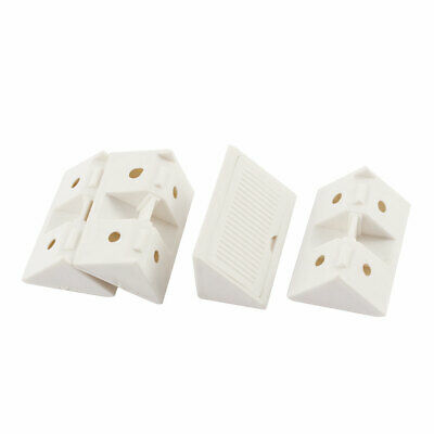 43mmx15mmx29mm Plactic Cover Furniture Angle Fastener Bracket White 4Pcs