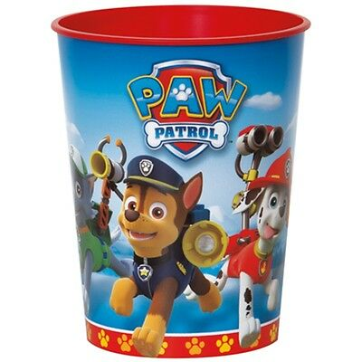 Paw Patrol Plastic Favor Cup 16 oz Birthday Party Chase Rubble
