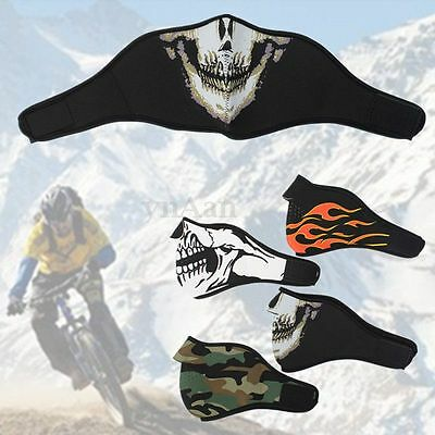 Neoprene HALF Face Reversible Biker Skateboard Motorcycle Scary Sports Mask New