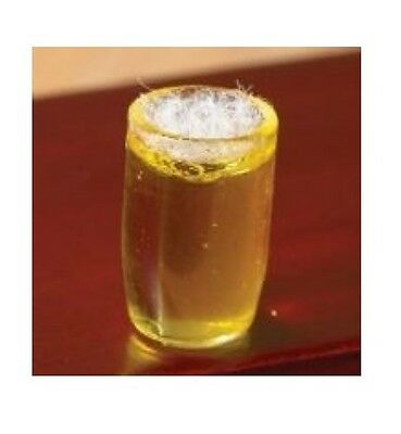 Dolls House Miniature: Glass of Lager / Ale  : in 12th scale Glass of Beer