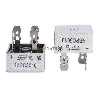 50A 1000V Metal Case Single Phases Diode Bridge Rectifier KBPC5010 AL