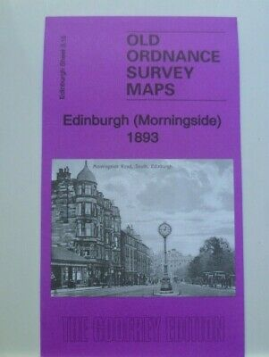 Old Ordnance Survey Maps Edinburgh Morningside Scotland 1893 Godfrey Edition New