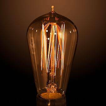 CFC25ES Carbon Filament Lamp Model C 240v 25W ES Fitting