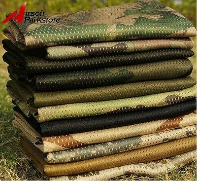 Military Hunting Camouflage Scarf Face Mask Sniper Cover Mesh Army Neckerchief
