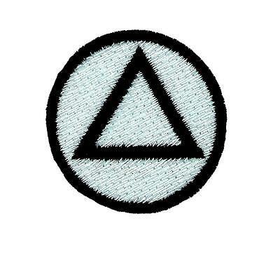 ALCOHOLICS ANONYMOUS EMBROIDERED PATCH sew on iron on AA SOBRIETY