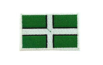 Flag patch patches embroidered iron / sew badge backpack cloth devon