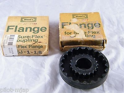 NEW OLD STOCK T.B WOODS FLANGE SURE-FLEX COUPLINGS 3J-X-5//8 2 LOT OF
