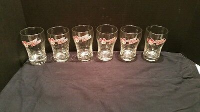 6 Glass Mickey Mouse Face Soda Glasses Drinking Disney