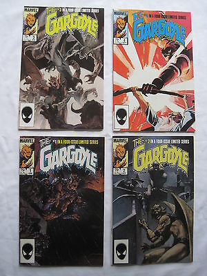 The GARGOYLE : COMPLETE 4 ISSUE SERIES by DeMATTEIS & BADGER. MARVEL. 1985