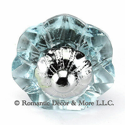 Arctic Glass Cabinet Knobs Kitchen Drawer Pulls Art Deco Handle #K186F-CH