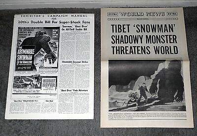THE ABOMINABLE SNOWMAN OF THE HIMALAYAS orig 1957 HAMMER pressbook PETER CUSHING