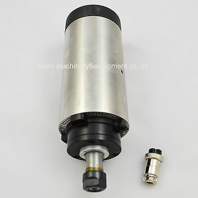 1.2Kw Air-Cooled Spindle Motor Cnc Engraving Milling Grind Four Bearing Rpm2400