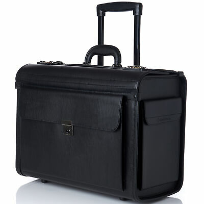 "AlpineSwiss 19"" Wheeled Briefcase Rolling Case Sales Sample Pilot Lawyer Attache"