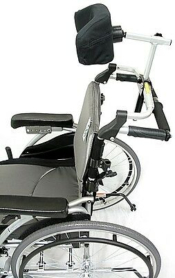 Wheelchair Accessory Foldable Headrest for S-305 Ht. Adjustable HR-FLD-305 NEW