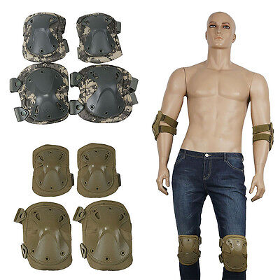 Paintball Military Army Tactical Combat Elbow Knee Pads Sets Protective Gear AU