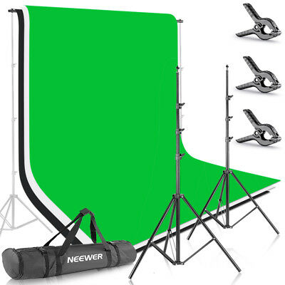 8.5ft X 10ft Background Stand Support System Kit with 6ft X 9ft Backdrop