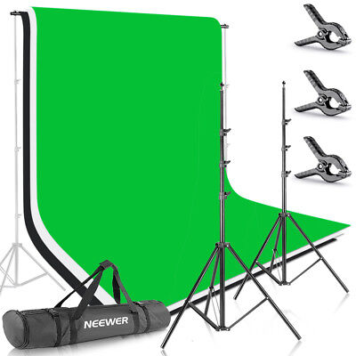 Neewer 8.5ft X 10ft Background Stand Support System with 6ft X 9ft Backdrop