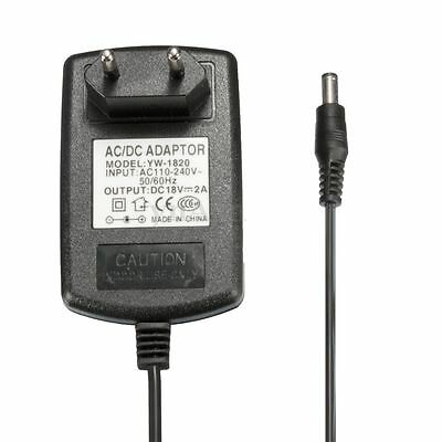 AC 100-240V Adapter DC 18V 2A Power Supply Cable Charger EU Plug 5.5 x 2.5mm