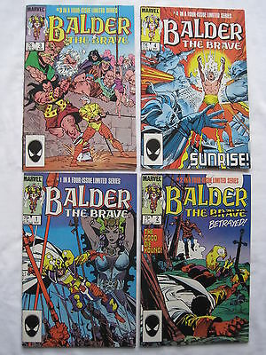 BALDER the BRAVE :COMPLETE 4 ISSUE THOR SERIES by SIMONSON & BUSCEMA.MARVEL.1985