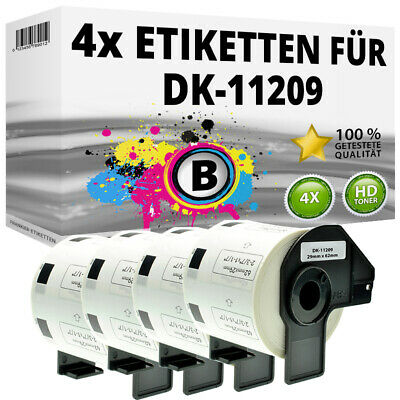 4x Etiketten für Brother P-Touch QL-1050N 1060N 500A 550 570 650TD 700 710W 720