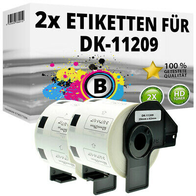 2x Etiketten für Brother P-Touch QL-1050N 1060N 500A 550 570 650TD 700 710W 720